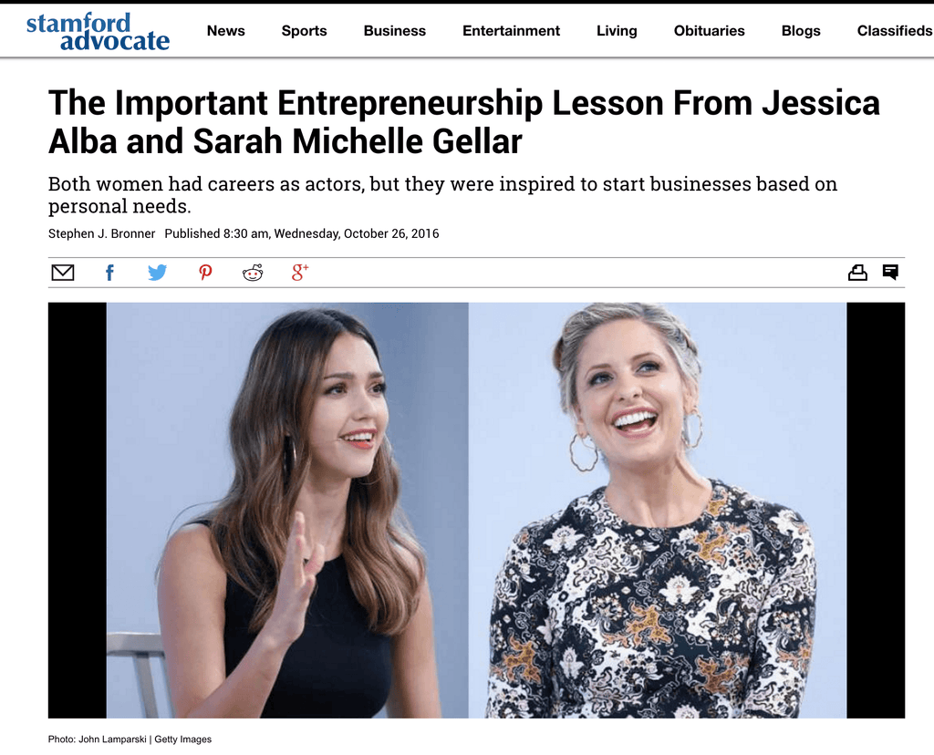 Sarah Michelle Gellar Shares Her Secret to Building a Successful Brand at the American Made Summit!