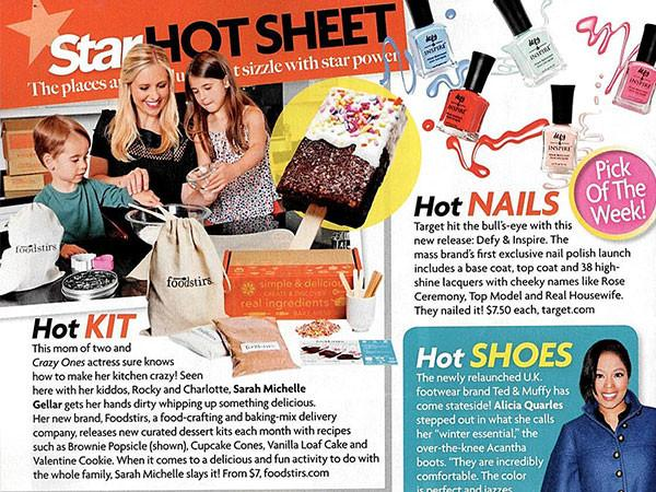 Foodstirs Featured on Star Magazine Hot Sheet