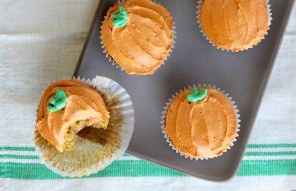 Brown Butter Pumpkin Cupcakes with Cream Cheese Frosting