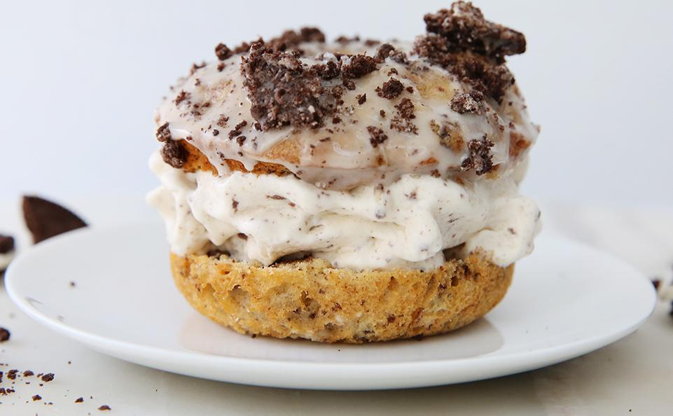 Cookies & Cream Ice Cream Donut Sandwiches