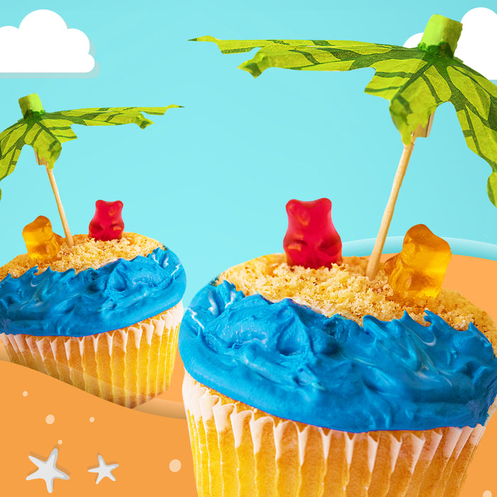 Tropical Teddy Island Cupcake Kit