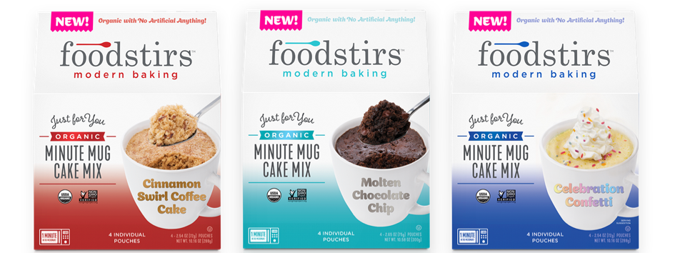 Foodstirs™ Modern Baking to Debut Organic, One-Minute Mug Cakes and Or