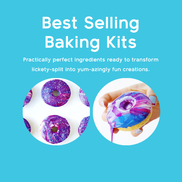 Exclusive Baking Kits. Practically Perfect baking tools & ingredients ready to transform lickety-split into amazing creations.