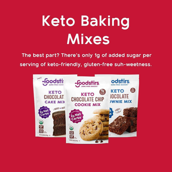 Keto Cookie Mix. The best part? There's only 1g of added sugar per serving of keto-friendly, gluten-free sweetness.