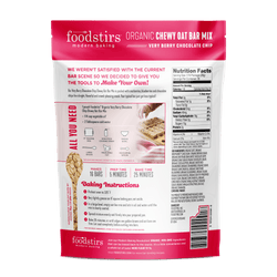 Foodstirs™ Organic Very Berry Chocolate Chip Chewy Oat Bar Mix