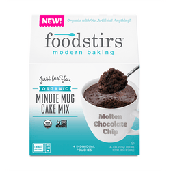 Foodstirs Organic Molten Chocolate Minute Mug Cake Mix Mixes Foodstirs