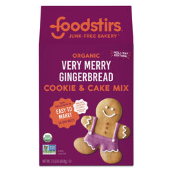 Organic Very Merry Gingerbread Cookie & Cake Mix Limited Kits & Mixes Foodstirs