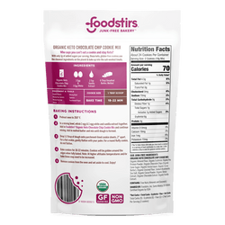 Foodstirs Organic Keto Chocolate Chip Cookie Mix Mixes Foodstirs