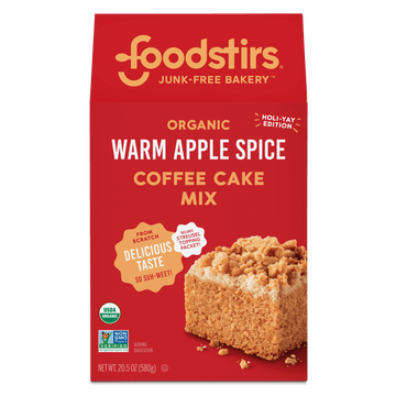 Foodstirs Organic Warm Apple Spice Coffee Cake Mix