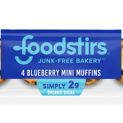 Blueberry Mini Muffins - (6 4-packs of muffins, 24 mini muffins) Foodstirs