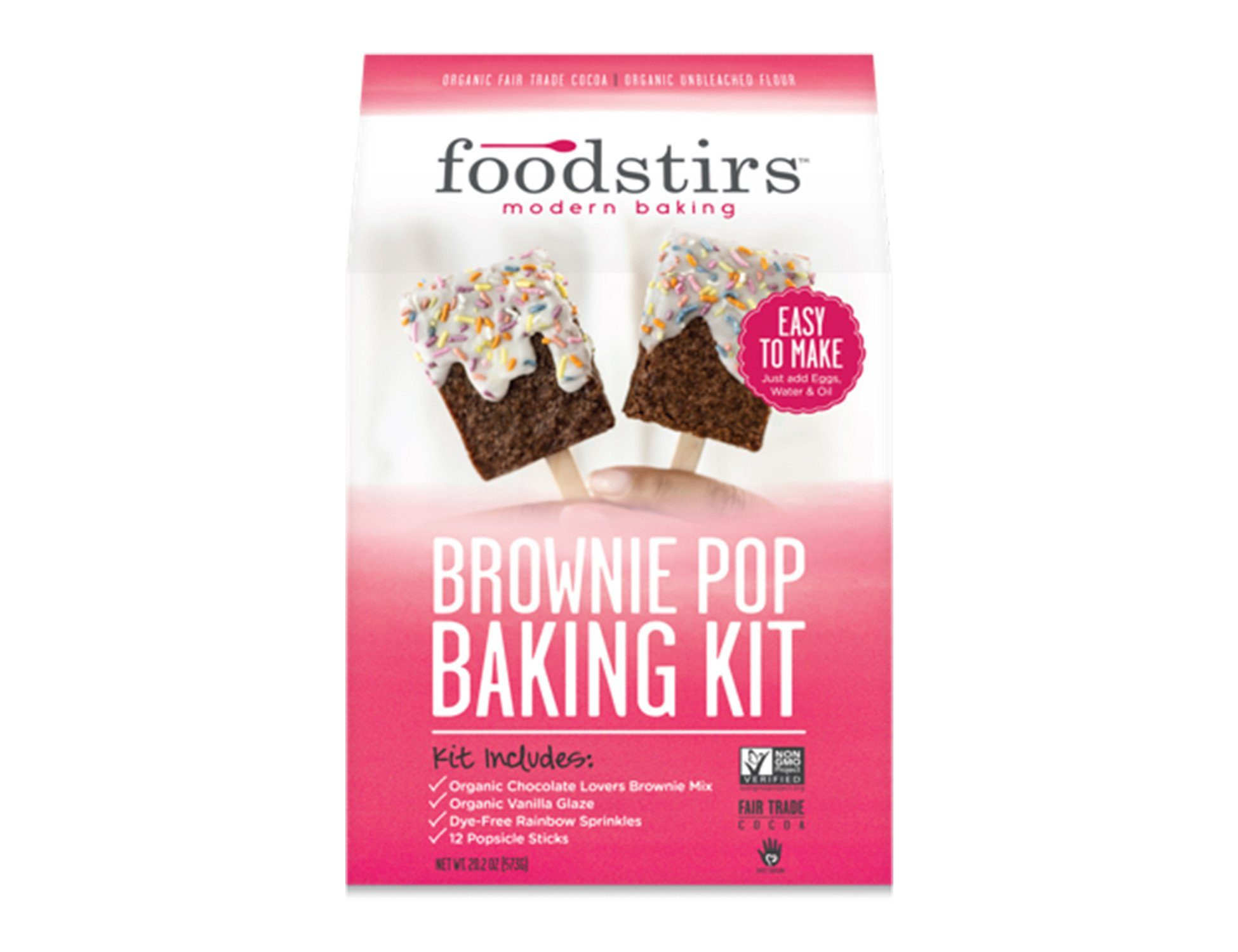 foodstirs the best organic diy baking kits subscriptions delivered brownie pops baking kit