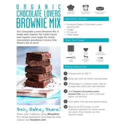Foodstirs Organic Baking Mix, Variety Pack: 1 Chocolate Lovers, 1 Vanilla Cake, 1 Chocolate Chippy