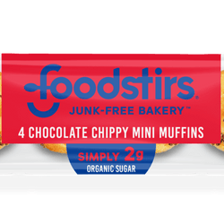 Chocolate Chippy Mini Muffins - (6 4-packs of muffins, 24 mini muffins) Foodstirs