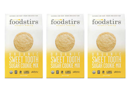 Foodstirs Organic Sweet Tooth Sugar Cookie Mix, 3 Pack