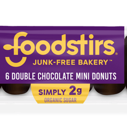 Double Chocolate Mini Donuts - (6 6-packs of donuts, 36 mini donuts) Rte Foodstirs