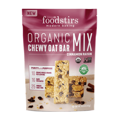 Foodstirs® Organic Cinnamon Raisin Chewy Oat Bar Mix