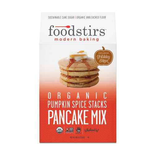 Foodstirs Organic Pumpkin Spice Stacks Pancake Mix