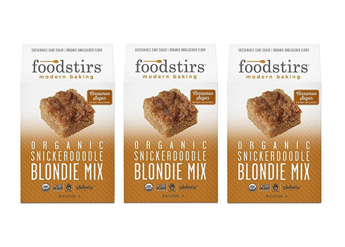 Foodstirs Organic Snickerdoodle Blondie Mix, 3 Pack