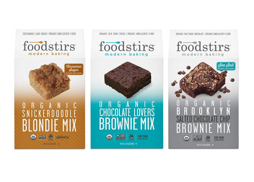 Foodstirs Organic Baking Mix, Variety Pack: 1 Snickerdoodle, 1 Chocolate Lovers, and 1 Brooklyn