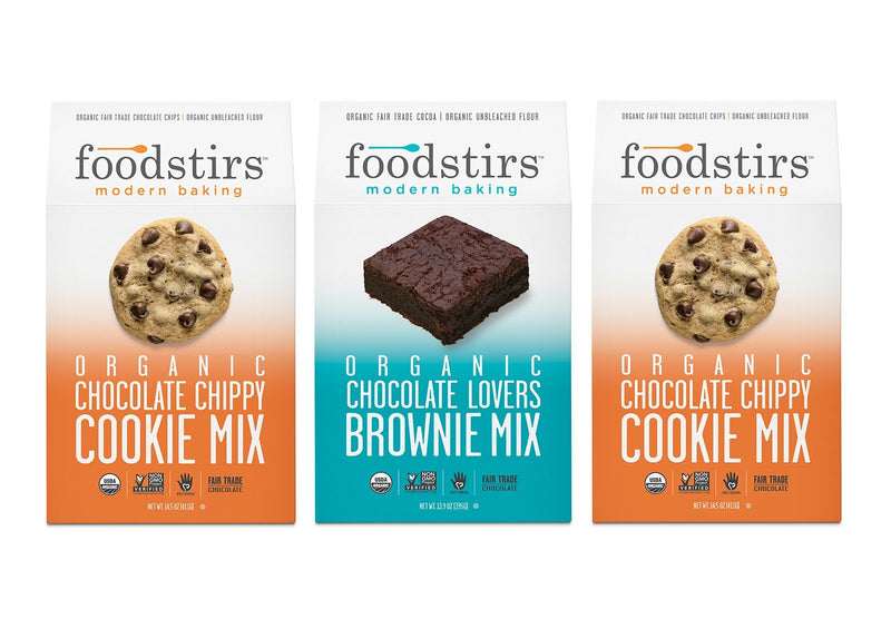 Foodstirs Organic Baking Mix, Variety Pack: 2 Chocolate Chippy, 1 Chocolate Lovers