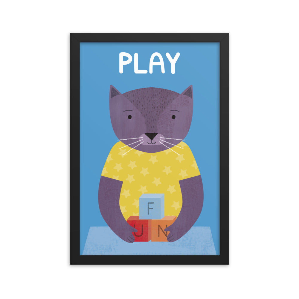 Playful Cat (Framed)