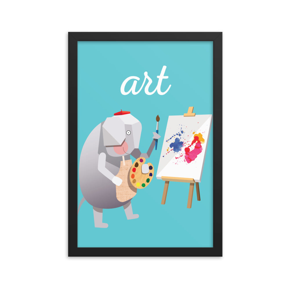 Artful Elephant (Framed)