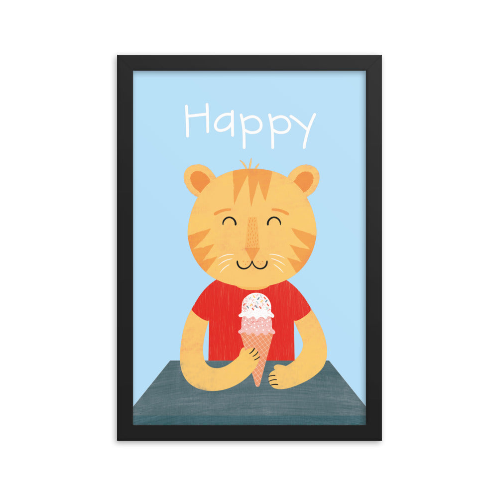Happy Cat (Framed)