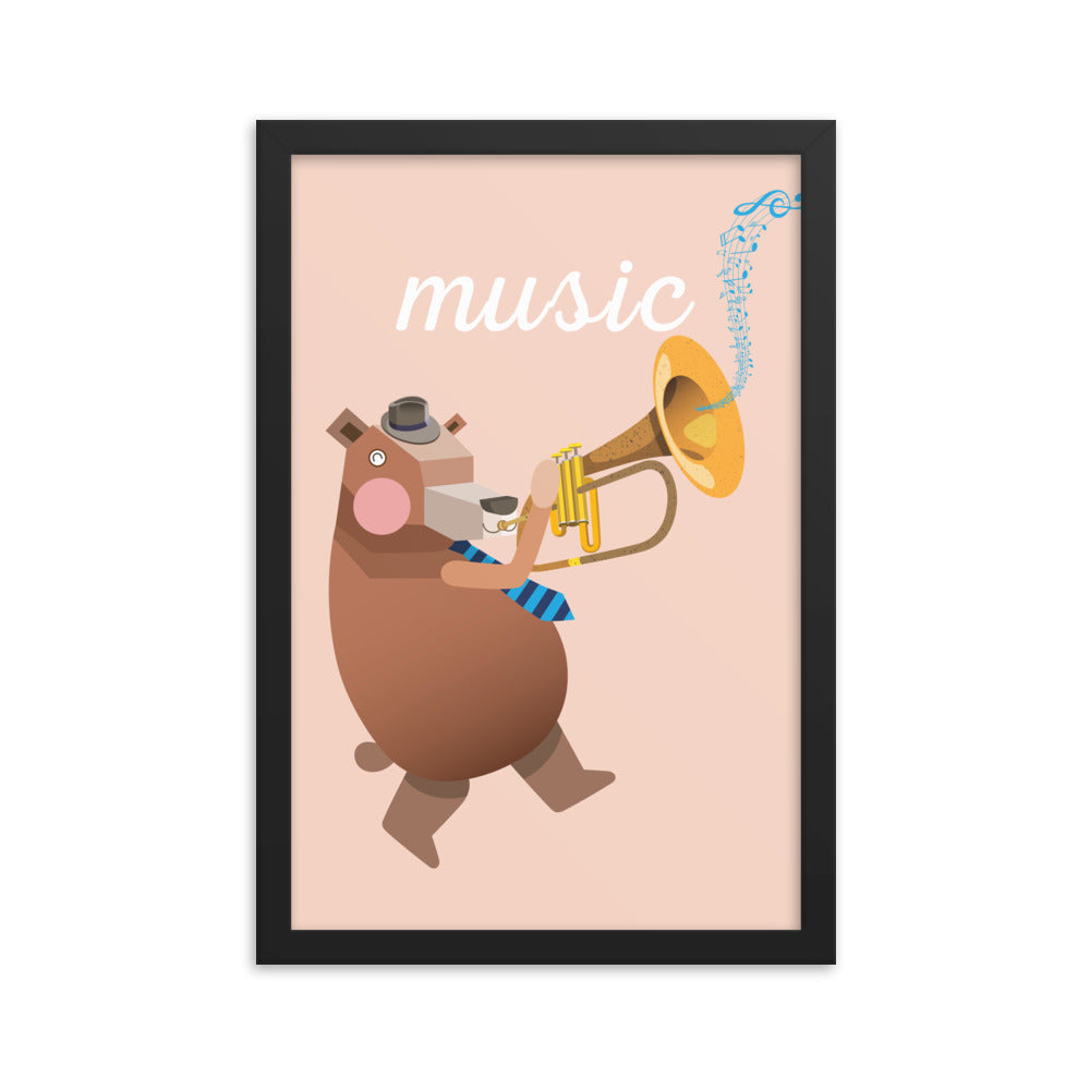 Musical Bear (Framed)