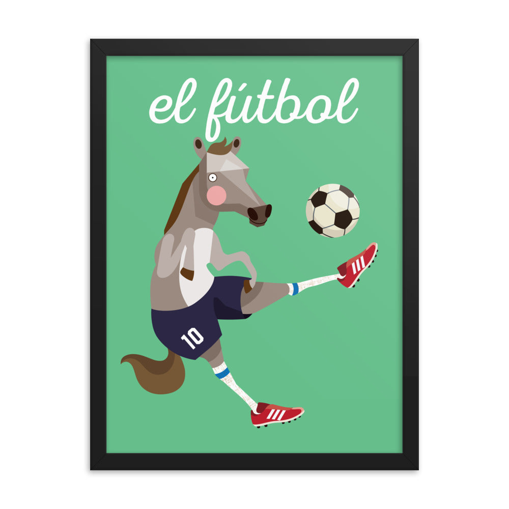 Soccer Horse - Spanish (Framed)
