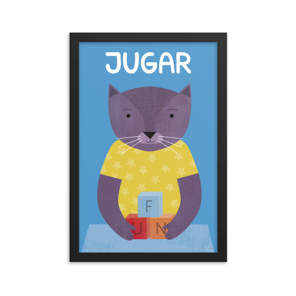 Playful Cat - Spanish (Framed)