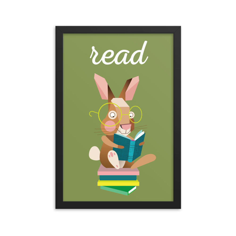 Reading Rabbit (Framed)