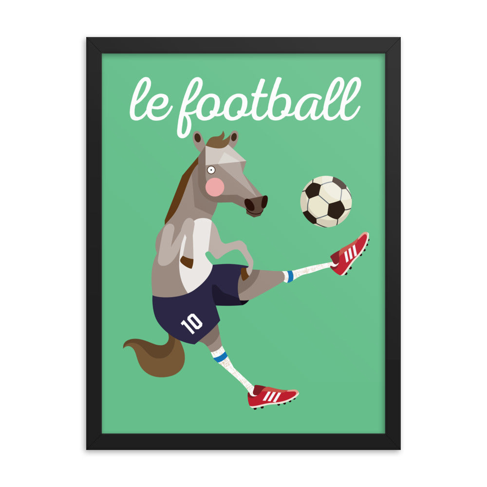 Soccer Horse - French (Framed)