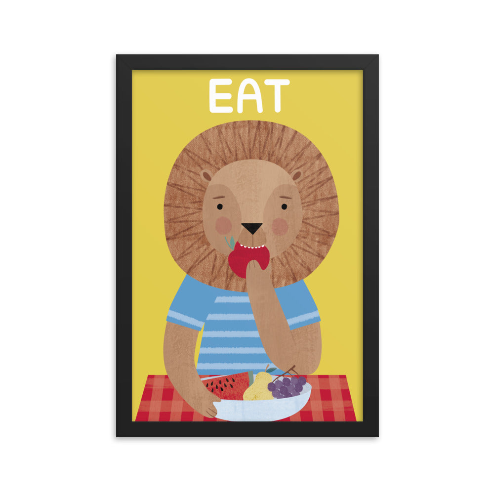 Eating Lion (Framed)