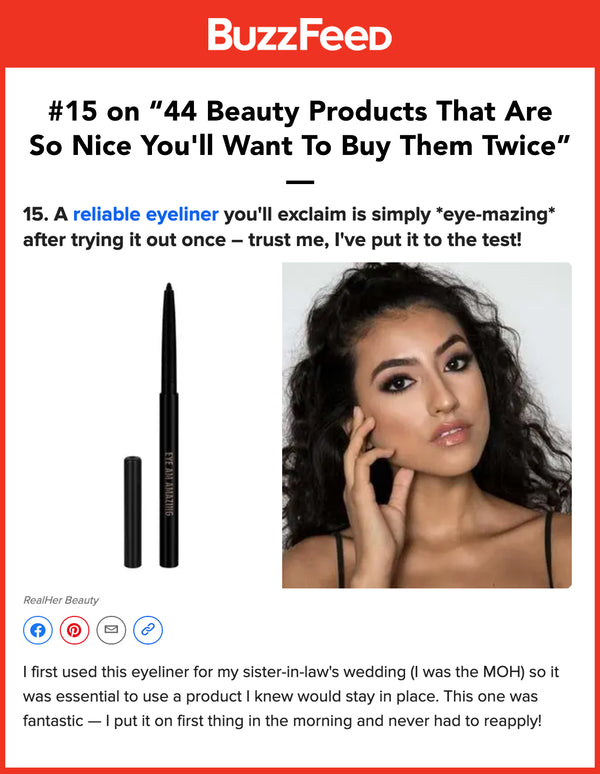 """Eye Am Amazing"" 24 Hour Eyeliner"