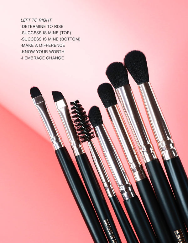 """Success is Mine"" Vegan Brush (dual-ended/ brow)"