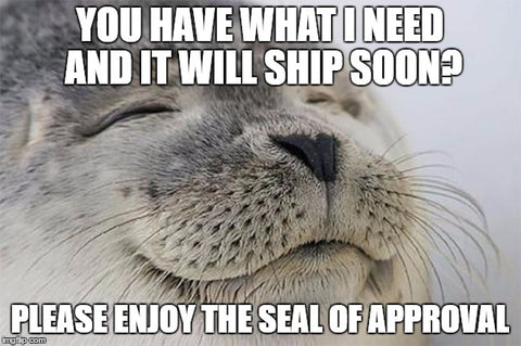 "The ""Seal"" of approval... Get it?"