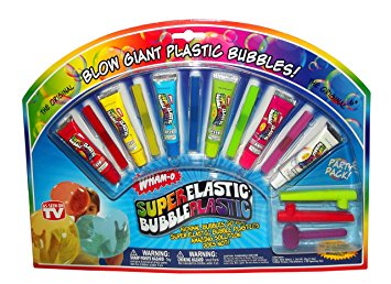 Wham-O Super Elastic Bubble Plastic Party Pack - With 6 Bubble Tubes!