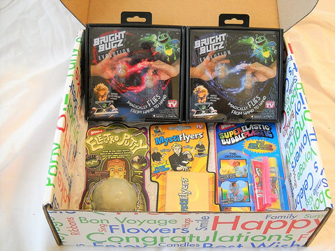 """All Occasion"" Fun Gift Box - 2 Bugz + 3 Magical Toys"