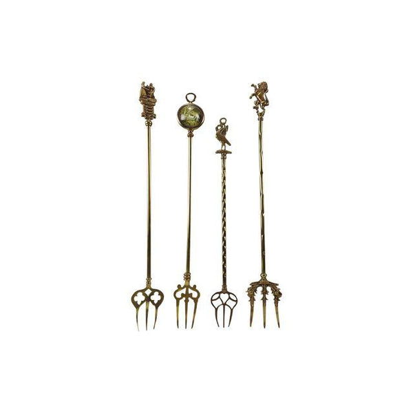 Brass Toasting Forks S/4 - Artifax antiques & design