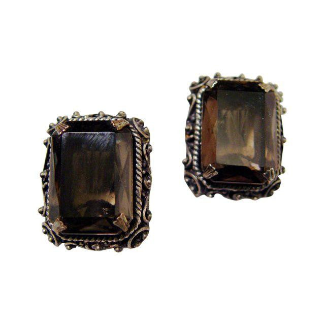 Kramer Of New York Smoky Rhinestone Earrings