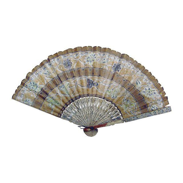 Vintage Hand Painted Paper Fan