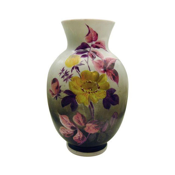 Hand Painted Bristol Glass Vase