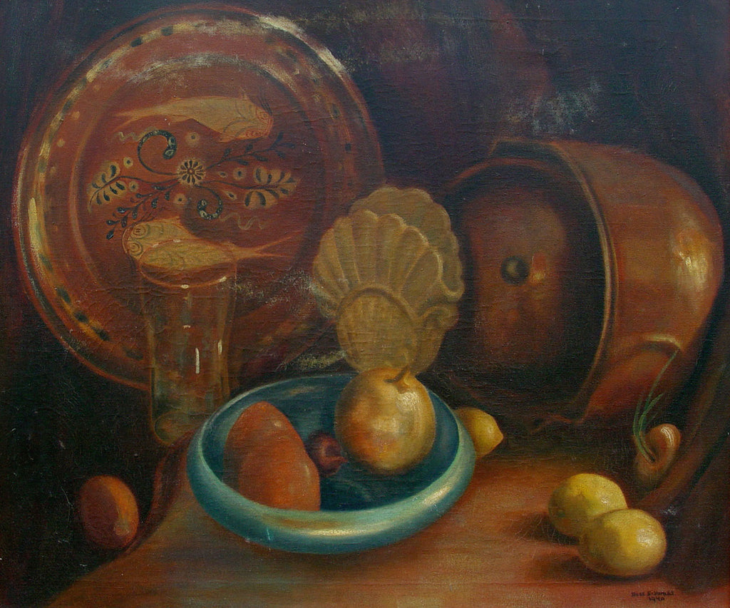 Mediterranean Still Life Painting by Bess Schwass