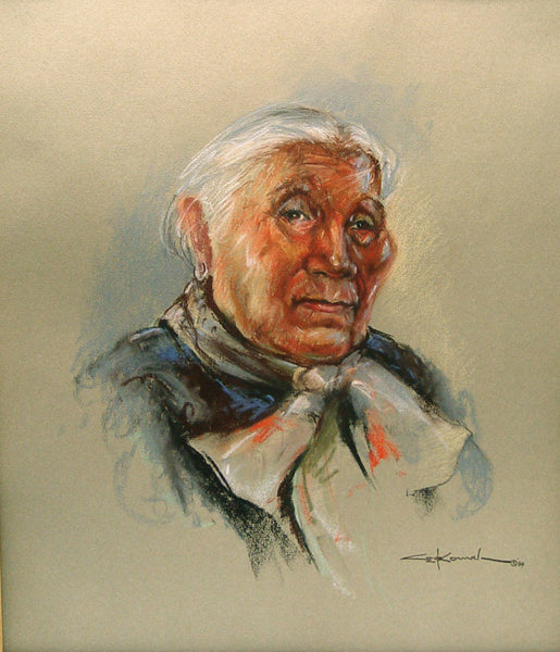 Navajo Elder Pastel on Paper
