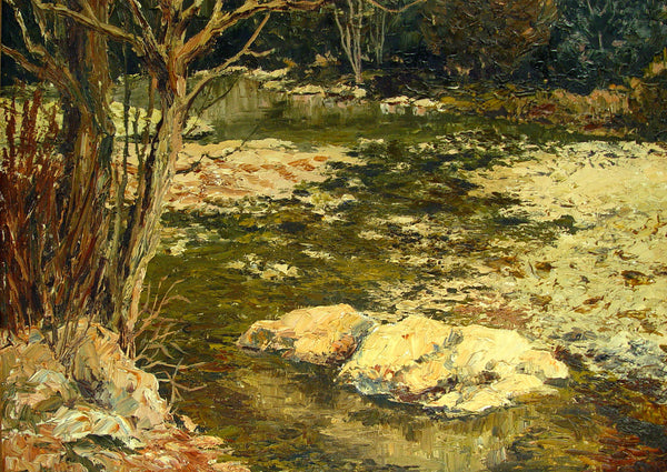 Impressionist Forest Stream