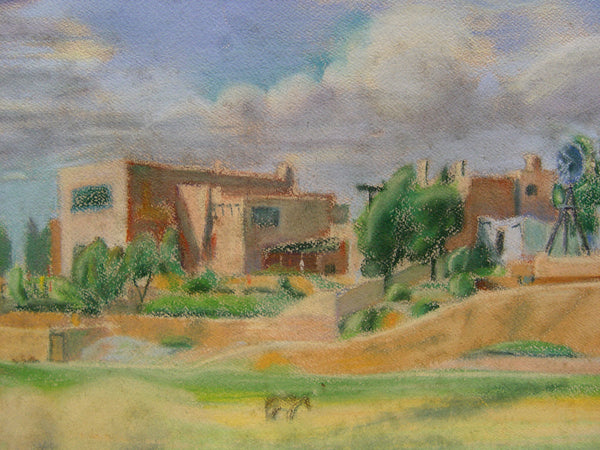 New Mexico Adobe by Geneva Flores Hart Pastel