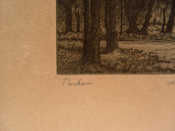 1926 Forest Etching - Artifax antiques & design