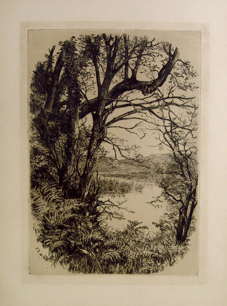 Lakeside Seclusion Etching