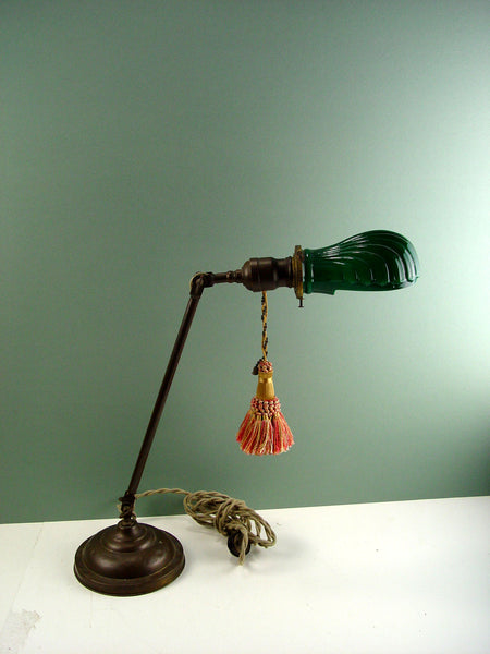 Faries Mfg. Brass Desk Lamp, C. 1910