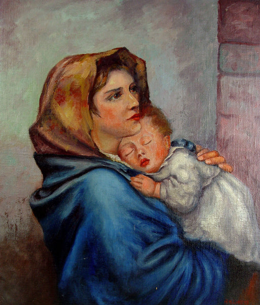 Madonna Of The Streets Oil on Board